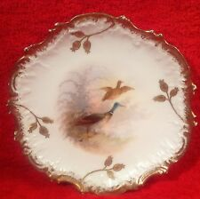 Antique Limoges Hand Painted Ducks Birds Plate with Gold Paste c1891-1900 L235 & Hand Painted Plates | eBay