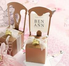 50 Gold Chair Wedding Favour Box Bomboniere