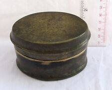 INSCRIBED Old Bronze Betelnut Betel Nut Lime Box 19th c. 330g