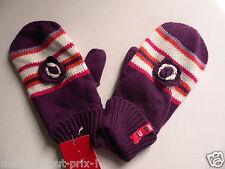 Gants moufles ESPRIT pour fille enfant 50% coton violet NEUF Gloves girl M