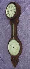 Rare alte Wanduhr mit Barometer und Thermometer  Mitte 19 Jahrhundert  Wien