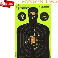 "18"" Silhouette Reactive Shooting Target Shots Burst Impact Rifle Pistol Airsoft"
