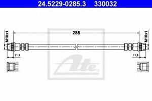 Flexible de frein DACIA DUSTER LOGAN (LS_) LOGAN EXPRESS (FS_) LOGAN MCV (KS_) L