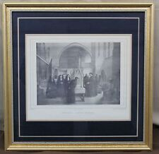 Antique Print J MEMLING BRUGES HOSPITAL in BELGIUM Jean Baptist Madou