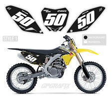 SUZUKI MOTOCROSS BACKGROUNDS NUMBER BOARDS MX GRAPHICS RM RMZ 65 85 125 250 450