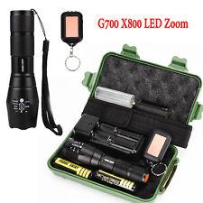 G700 X800 LED Zoom Grado Militare Tattica della Torcia Elettrica Nuovo
