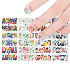 12patterns Cute Nail Art Water Decal Transfer Stickers Panda Cats Dogs Decor