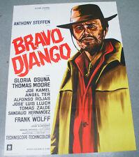 Affiche de cinéma : BRAVO DJANGO de LEON KLIMOVSKY