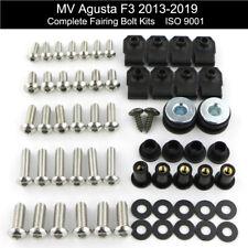 Motorcycle Fairing Bolts Bodywork Screws Kit Washer Push Pins For MV Agusta F3