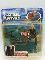 Star Wars  ATOC Anakin Skywalker w Force flipping Attack Action Figure 2002