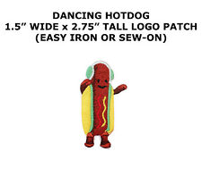 Dancing Hot Dog Embroidered DIY Easy Iron On Humor Funny Novelty Patch