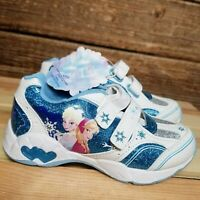 Disney Frozen Sneakers Toddler Girls Shoes No Laces Size 11 New with Defect