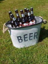 Cubo De Cerveza De Acero Galvanizado Metal Retro Hielo Bebidas Enfriador de almacenamiento de información de Botella de vino
