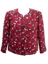 Liz Claiborne Women's Dress Jacket Red Burgundy Career Formal Easter Size 8