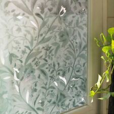 Static Cling PVC Frosted Glass Window Film Sticker Privacy For Bedroom Bathroom