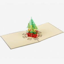Hot Handcrafted Origami 3D Greeting Christmas Card Pop Up Card Postcards Gift