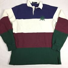 Vintage Made In Usa POLO Ralph Lauren Scribble Rugby Polo Color Block Striped L