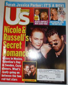 US Weekly Magazine Nicole Kidman & Russell Crowe November 2002 032415R