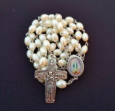 Virgin Mary and Jesus rosary - Vatican - Pearl - Immacutale - Blessed by Pope