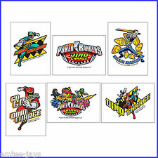 Power Rangers Tattoos x 12 - Loot Bags - Birthday Party Favours - Dino Charge