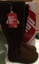 FitFlop Wedge Suede Knee High Boots for Women