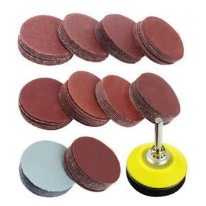 "100PCS 2 Inch Sander Disc Sanding Discs 80-3000 Grit Paper with 1/4"" Backer Pad"