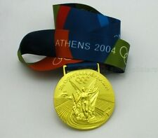 ATHENS 2004 OLYMPIC GOLD MEDAL WITH RIBBON COLLECTIBLE SOUVENIR