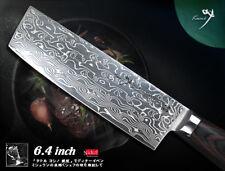 "Handcraft Nickel Damascus Vegetable Nakiri Knife 6.4"" Cookware Cutlery NEW"