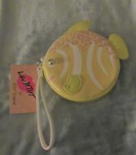 LUV BETSEY BETSEY JOHNSON yellow FISH COIN CHANGE PURSE-WRISTLET- NWT