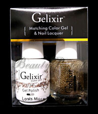 Gelixir Soak Off Gel Polish Color #134 LED/UV .5oz Matching Gel Duo