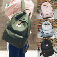 Backpack Womens Mens Travel Canvas Satchel School Shoulder Rucksack Satchel Bags