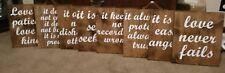 Set of 8 Corinthians 13 Wedding Aisle Signs, Love is Patient, love is kind 12x13