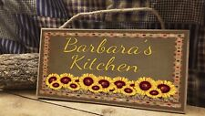"Personalized ""YOUR NAME"" Kitchen Sunflowers Country Farmhouse 5x10 SIGN Plaque"