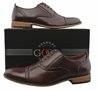 Mens New Oxblood Lace Up Leather Lined Toe Cap Brogue Shoes UK 6 7 8 9 10 11 12