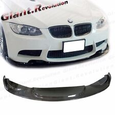 Carbon Fiber HM Type Front Extended Lip Wing For BMW 08-13 E92 E93 E90 M3 Bumper