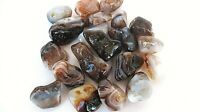 Fire Agate Tumbled Stones Qty3 35-40mm Mexico Healing Crystals Free Info Card