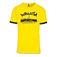 BVB Men's Borussia Dortmund Skyline T-Shirt - Small (S) - Yellow - New