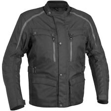 River Road Taos Black Men's Waterproof Textile Street Motorcycle Jacket MD BLEM