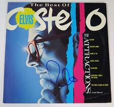 """ELVIS COSTELLO AND THE ATTRACTIONS Signed """"The Best Of.."""" Album Vinyl Record LP"""