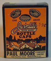 Vintage Canadian Jointite Cork bottle caps. Full box. Cool memorabilia.