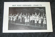 Playbill BEST FOOT FORWARD signed by director/choreograpaher Danny Daniels, 1963