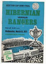 Orig.PRG  Schottland / Scottish Cup 70/71  HIBERNIAN E. - GLASGOW RANGERS  1/2 F
