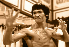 Sepia cartel de Bruce Lee Pared Arte Impresiones Casa Decoración película de Hollywood Legends