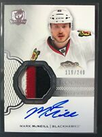 2016-17 Upper Deck The Cup Mark McNeill Rookie Auto 3 COLOR Patch Blackhawk /249