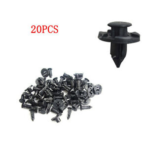 20Pcs Clips Push-Type Retainer Fasteners 8mm for 08-2015 Lancer Fender Liner