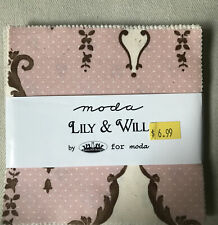 Lily & Will Moda Charm pack by Bunny Hill Designs
