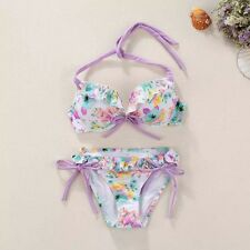 Victoria's Secret VS Bikini Set purple flower Swimsuit Swimwear Beachwear M