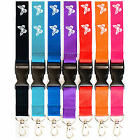 Rolseley Lanyard Neck Strap with Butterfly for ID Badge Holder with Metal Clip
