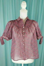 Vintage Candi Jones Peasant Style 1970's Blouse Size Small New With Paper Rn Tag