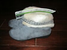isotoner Ash Gray Micro suede Joey Boot Slippers 7 1/2 - 8